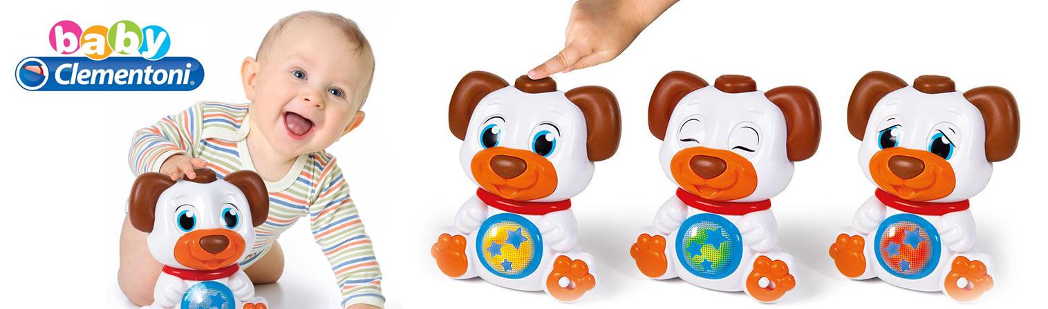 Детска играчка Clementoni Baby - Кученце с въртящи очи, звук и светлина
