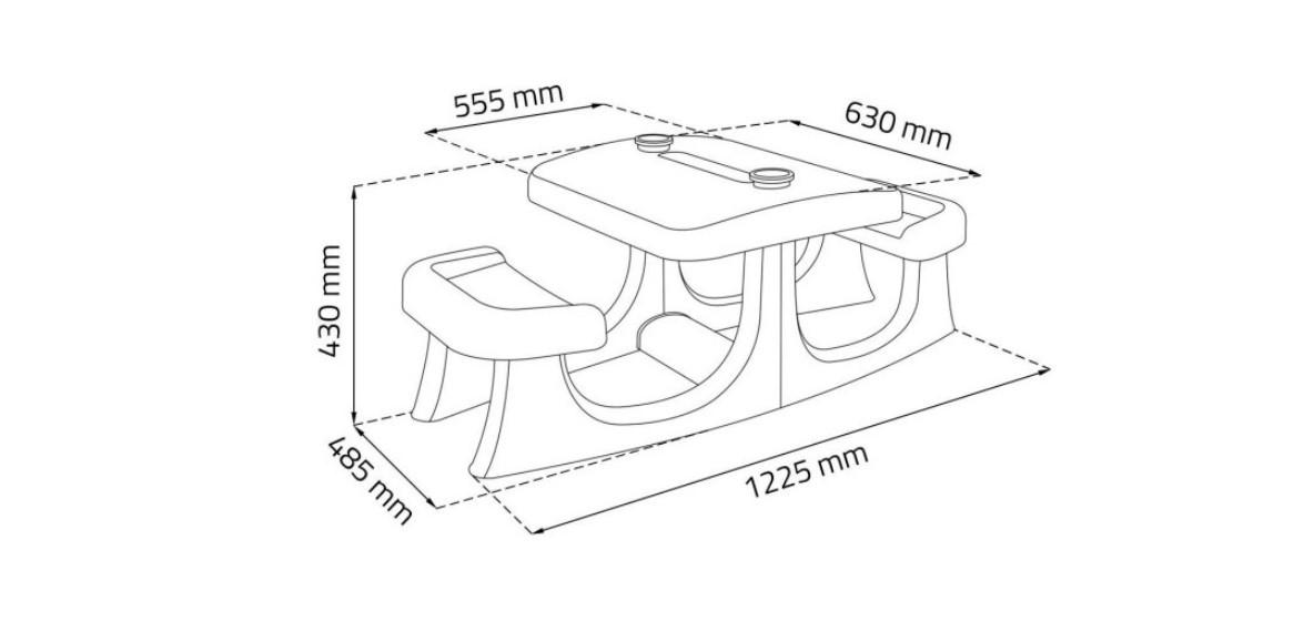 Комплект за градина Patio Center Keter - Масичка с пейки