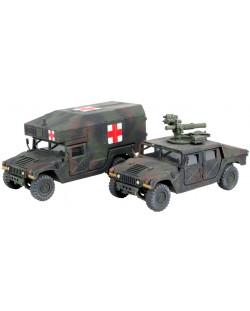 Сглобяем модел на военен транспорт Revell -  MMWV M966 TOW Missile Carrier & M997 Maxi Ambulance (03147)