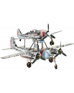 Сглобяем модел на военен самолет Revell - MISTEL V Ta154 & Fw190 (04824)