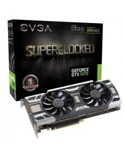 Видеокарта EVGA Nvidia GeForce GTX 1070 SuperClocked Edition (8GB GDDR5)