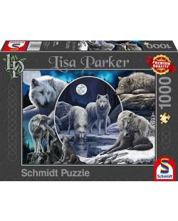 Пъзел Schmidt от 1000 части - Потайните вълци, Лиса Паркър