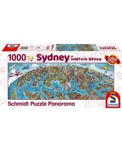 Панорамен пъзел Schmidt от 1000 части - Сидни, Хартуиг Браун