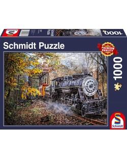 Пъзел Schmidt от 1000 части - Влакът в гората