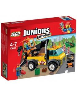 Lego Juniors: Камион за ремонт на пътища (10683)