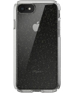 Калъф speck -  iPhone SE, 8,7, Gold Gliter, прозрачен