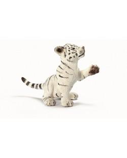 Фигурка Schleich от серията Дивия живот - Азия и Австралия: Бяло тигърче - играещо