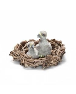 Фигурка Schleich от серията Дивия живот - Америка: Орлета в гнездо