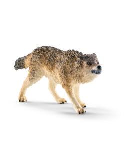Фигурка Schleich от серията Дивия живот - Америка: Вълк - ръмжащ