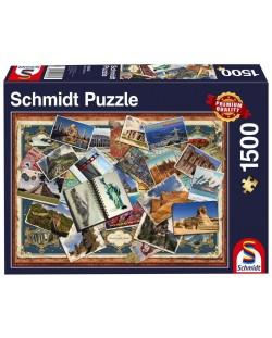 Пъзел Schmidt от 1500 части - Поздрави от различни точки на света