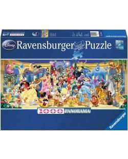 Панорамен пъзел Ravensburger от 1000 части - Героите на Дисни