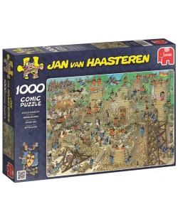 Пъзел Jumbo от 1000 части - Обсада на замъка, Ян ван Хаастерен