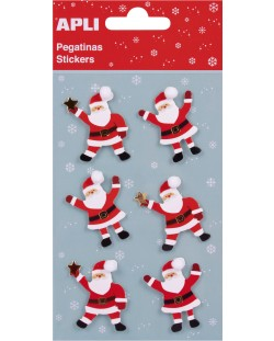 Самозалепващи стикери APLI - 3D Санта Клаус с помпон