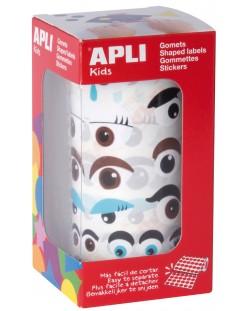 Стикери на ролка APLI - Очички, 1380 броя