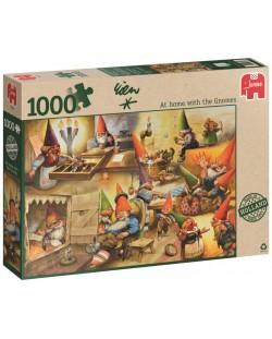 Пъзел Jumbo от 1000 части - Къщата на гномите, Рин Портфлит