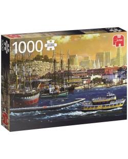 Пъзел Jumbo от 1000 части - Пристанището в Сан Франциско
