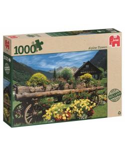 Пъзел Jumbo от 1000 части - Алпийски цветя