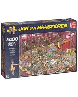 Пъзел Jumbo от 5000 части - Цирк, Ян ван Хаастерен