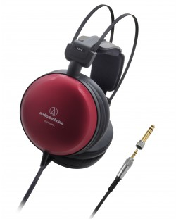 Слушалки Audio-Technica - ATH-A1000Z Art Monitor, hi-fi, червени