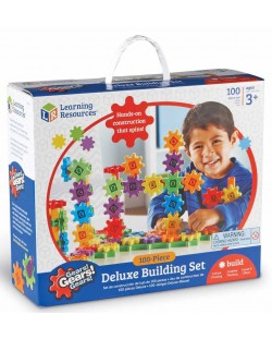 Детски конструктор със зъбни колела Learning Resources -100 части