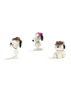 """Фигурка Schleich от серията """"Peanuts"""": Комплект Фъстъчета - семейството на Снупи"""