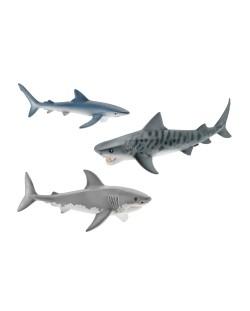 Фигурки Schleich от серията Аксесоари към Диви Животни: Комплект акули