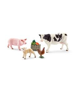 Фигурка Schleich от серията Аксесоари към Животни във фермата: Комплект - моите първи животни от фермата