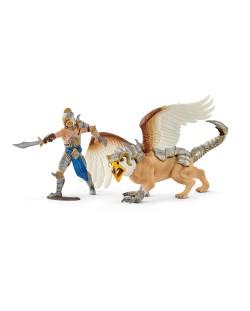 Фигурка Schleich от серията Рицари на Грифона: Воин с грифон