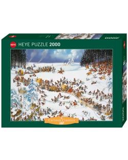Пъзел Heye от 2000 части - Зимата на Наполеон, Жан-Жак Луп