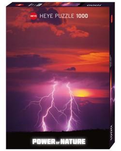 Пъзел Heye от 1000 части - Двуръка светкавица, Силата на Природата