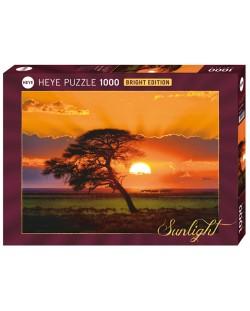 Пъзел Heye от 1000 части - Слънчево дърво, Слънчева светлина
