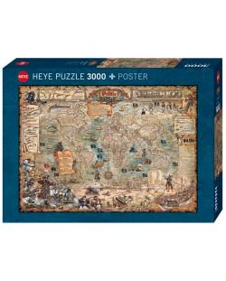 Пъзел Heye от 3000 части - Света на пиратите