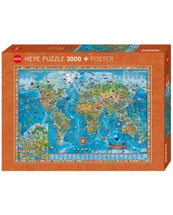 Пъзел Heye от 3000 части - Удивителния свят