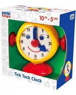 Детска играчка Ambi Toys - Моят първи часовник, Тик-так