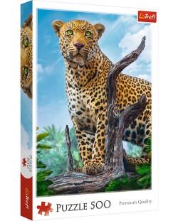 Пъзел Trefl от 500 части - Леопард