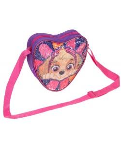 Детска чанта за рамо Starpak Paw Patrol - Сърце, с пайети, асортимент