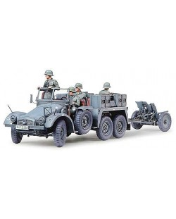 Tamiya военен камион с ремарке-оръдие Krupp Towing Truck (35259)