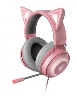 Гейминг слушалки Razer Kraken Kitty Ed. - Quartz
