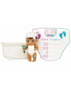 Фигурка-изненада Zapf Creation - Бебче във вана Baby Secrets, асортимент