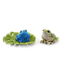 Фигурки Schleich от серията Аксесоари към Диви Животни: Комплект - жаби