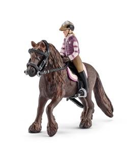 Фигурка Schleich от серията Аксесоари към Животни във фермата: Комплект - за езда на пони (без кон)