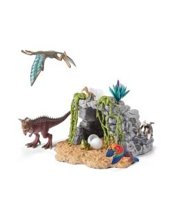 Фигурка Schleich от серията Аксесоари към Динозаври: Комплект - динозаври с пещера