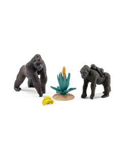 Фигурки Schleich от серията Аксесоари към Диви Животни: Комплект - горили