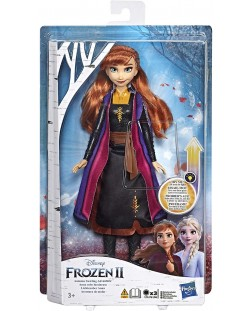 Кукла Hasbro Frozen 2 - Анна със светеща рокля