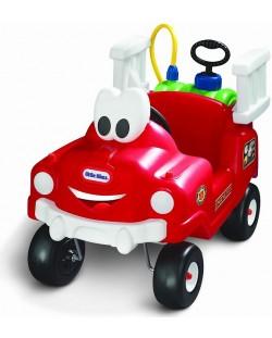 Пожарникарска кола за каране и бутане с контейнер за вода и маркуч