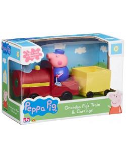 Игрален комплект Peppa Pig - Влакчето на Дядо Прасенце