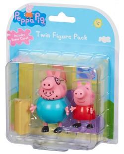 Комплект фигурки Peppa Pig - 2 фигурки с декор, асортимент