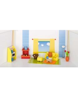 Детска дървена къща Goki - Дневна