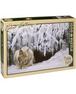 Пъзел Cobble Hill от 1000 части - Снежен рис, Робърт Бейтмън