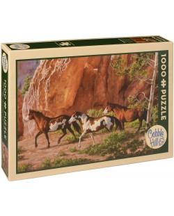 Пъзел Cobble Hill от 1000 части - Каньона на конете, Крис Къминг